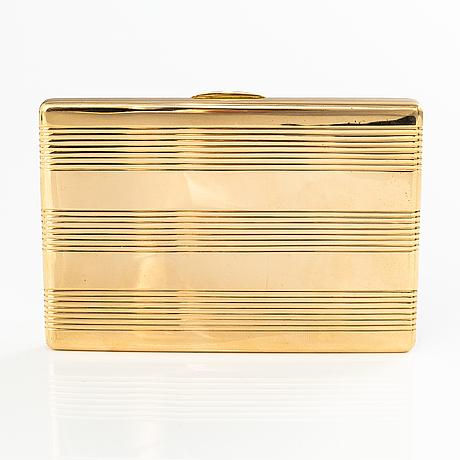 Georg buchert, an 18k gold cigarette case. helsinki 1941.