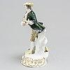 A geman porcelain figurine, 20th century, meissen like mark.