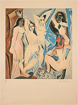 """665. Pablo Picasso After, """"Les Demoiselles d'Avignon""""."""