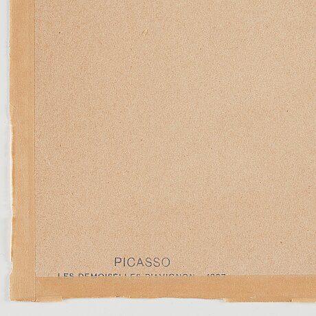 """Pablo picasso efter, """"les demoiselles d'avignon""""."""