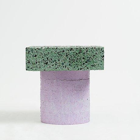 "Jonatan nilsson, a unique ""concretely happy"", table/object, studio jonatan nilsson, 2017."