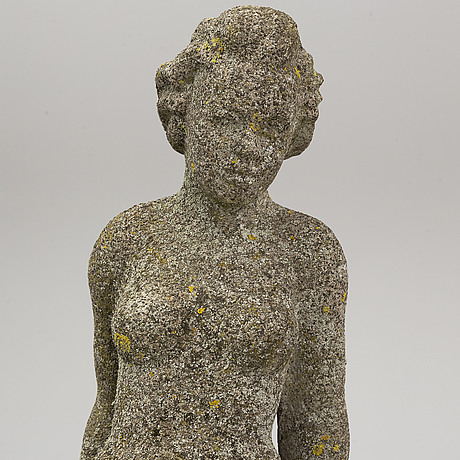 FontÄn/skulptur, gjutmassa. 1920/30-tal.