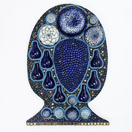 Birger kaipiainen, relief, kivitavara, signeerattu kaipiainen arabia.