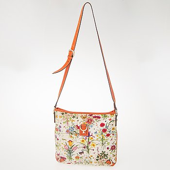 GUCCI, Floral Canvas Messenger Bag.