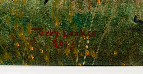 Terry laakso, öljy levylle, signeerattu ja päivätty 2013.