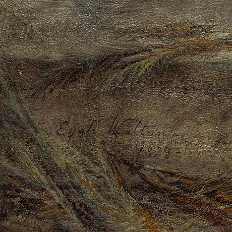 Elijah walton, olja på duk, signerad.