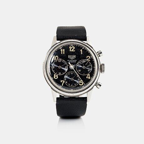 """Heuer, chronograph, """"gilt"""", """"o rydén malmö""""."""