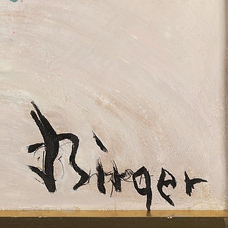 Birger birger-ericson, oil on paper-panel, signed.