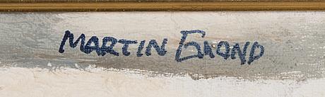Martin emond, olja på duk, signerad.