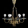 Paavo tynell, a mid-20th-century' 9013' chandelier for idman.