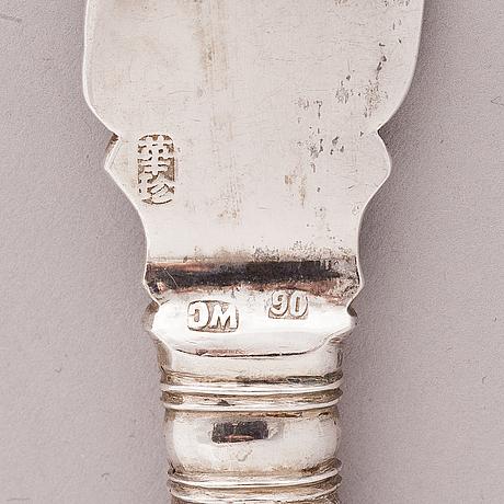 Wing chung, kala-aterimia, 6+6 kpl, hopeaa, hongkong 1800-luvun loppu.