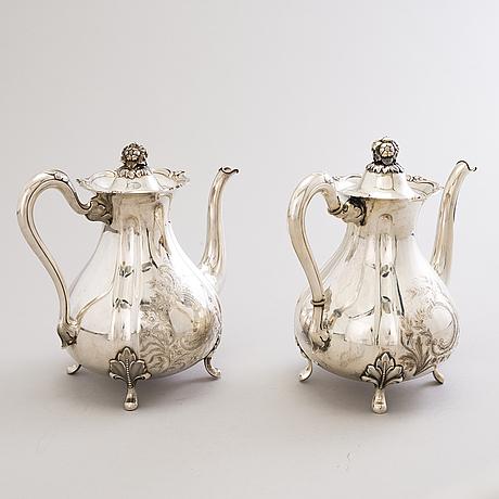 A 5-piece silver coffee set, turku and hämeenlinna, finland 1928-1950.