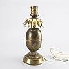 Table lamp, brass, second half of 20th century.