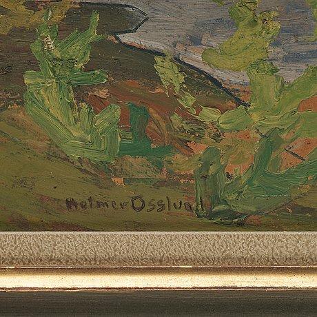 """Helmer osslund, """"nipor i kvällssol""""."""