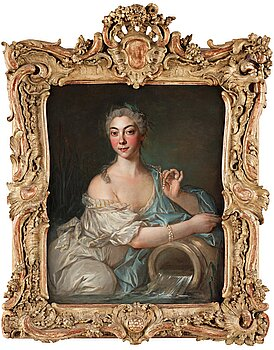 JEAN-MARC NATTIER, circle of. Unsigned. Relined canvas 81 x 65 cm.