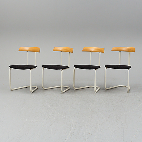 A set of 4 chairs by andreas hansen for swedese.