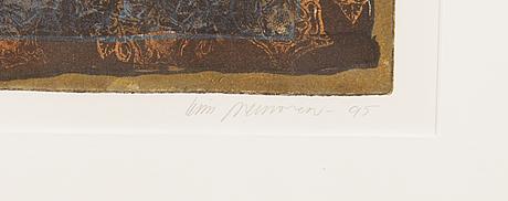 Kirsi neuvonen, etsaus, signeerattu ja päivätty -95, numeroitu 4/95.