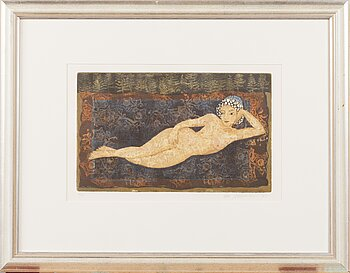 KIRSI NEUVONEN, etching, signed and dated -95, numbered 4/95.