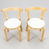Alvar aalto, tuoleja, 6 kpl, malli 68, artek, 1900-luvun loppu.