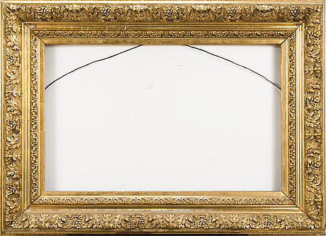 A gilded 19th century frame.