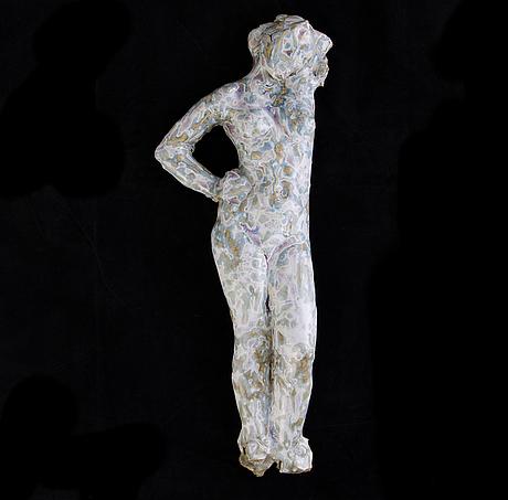 Michael schilkin, a ceramic sculpture, signed m. schilkin.