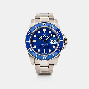 "14. ROLEX, Submariner, ""Smurf""."