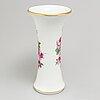 An early 20th century meissen porcelain vase.