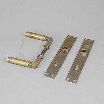 WALTER GROPIUS, a set of door handles for S.A. Loevy, Berlin, Germany 1920-30's.