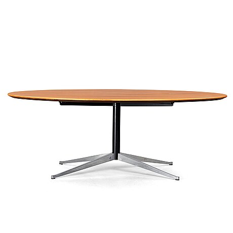 """Florence knoll, an """"oval 96"""" table for knoll international, post 1961."""