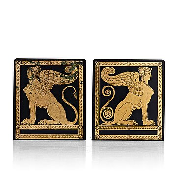 3. Piero Fornasetti, a pair of bookends, Milano, Italy 1960's.