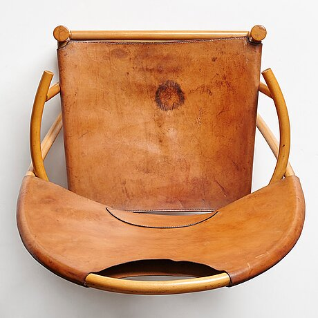 "Werther toffolino & piero palange, a ""hoop"" easy chair for germa, italy 1970's."