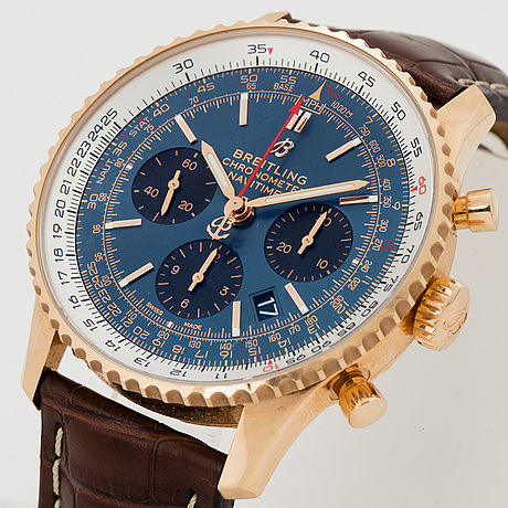 Breitling, navitimer 1 b01, wristwatch, chronograph, 43 mm.