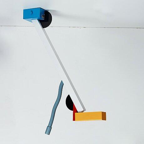 "Ettore sottsass, an ""quisisiana"" ceiling lamp, memphis, italy post 1981."