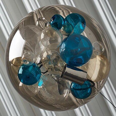 """Paolo venini, and massimo pistilli, a """"palotta"""" glass ceiling lamp, venini, italy 1960-70's."""