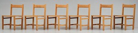John kandell, six oak chairs for s:t nicolai chapel, helsingborg, sweden 1956, probably executed by cabinetmaker david sjölinder.