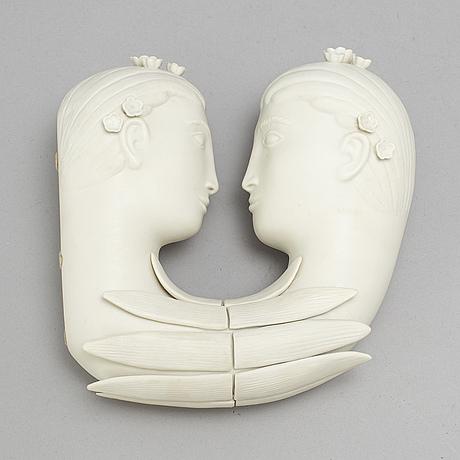 A 'narcissus' parian figurine by stig lindberg.