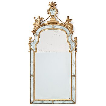 1. A Swedish Baroque mirror by Burchardt Precht (active in Stockholm 1674-1738).