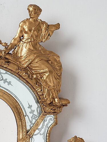 A swedish baroque mirror by burchardt precht (active in stockholm 1674-1738).