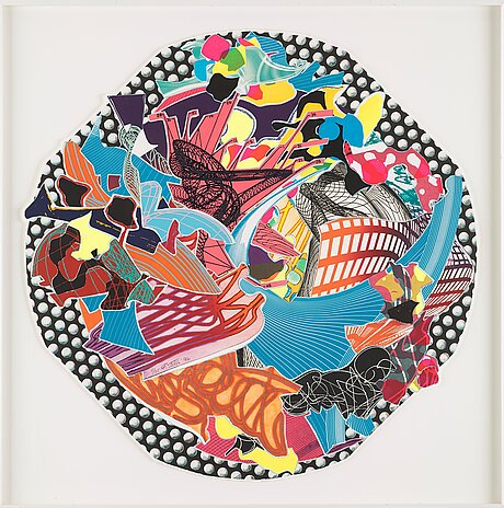 """Frank stella, """"fattiputt"""" from """"imaginary places ii""""."""