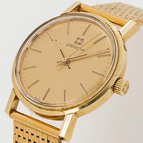 Zenith, wristwatch, 34 mm.