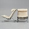 "Arne norell, ""ari"", a pair of white leather easy chairs for norell möbel ab."
