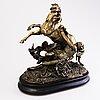 Skulptur, patinerad metallegering, 1800-talets slut.