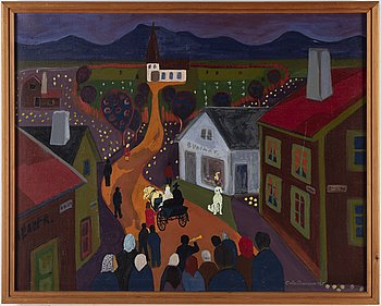 KEJSAR CALLE SUNESSON, oil on canvas, signed and dated 1965.