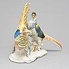 Karl ehns, figurin, porslin, tyskland, 1900-talets första hälft.