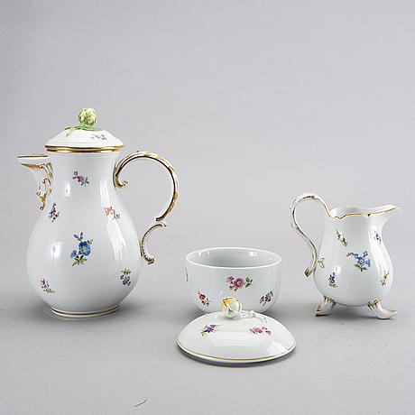 A 12 pcs mesissen porcelain service.