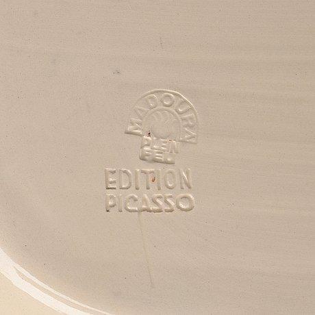 """Pablo picasso, a """"visage de femme"""" faience dish, vallauris, madoura, france post 1953, a ramié 220."""