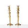 A pair of french empire three-light candelabra, beginning of 19th century.