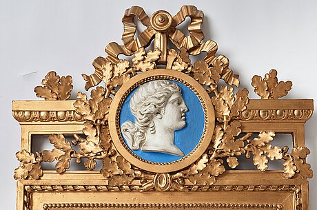 A gustavian mirror, late 18th century.