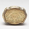 A swiss mid 19th century 14ct. gold box.
