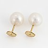 Cultured pearl earrings.